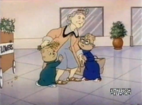 Simon, Theodore, and an Elderly Woman