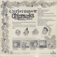 Christmas With The Chipmunks Back Cover