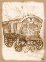 Stagecoach gypsy by janet watkins edge sepia2