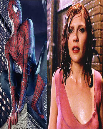 Kiss between Mary Jane Watson and Spider Man | Amazing ...