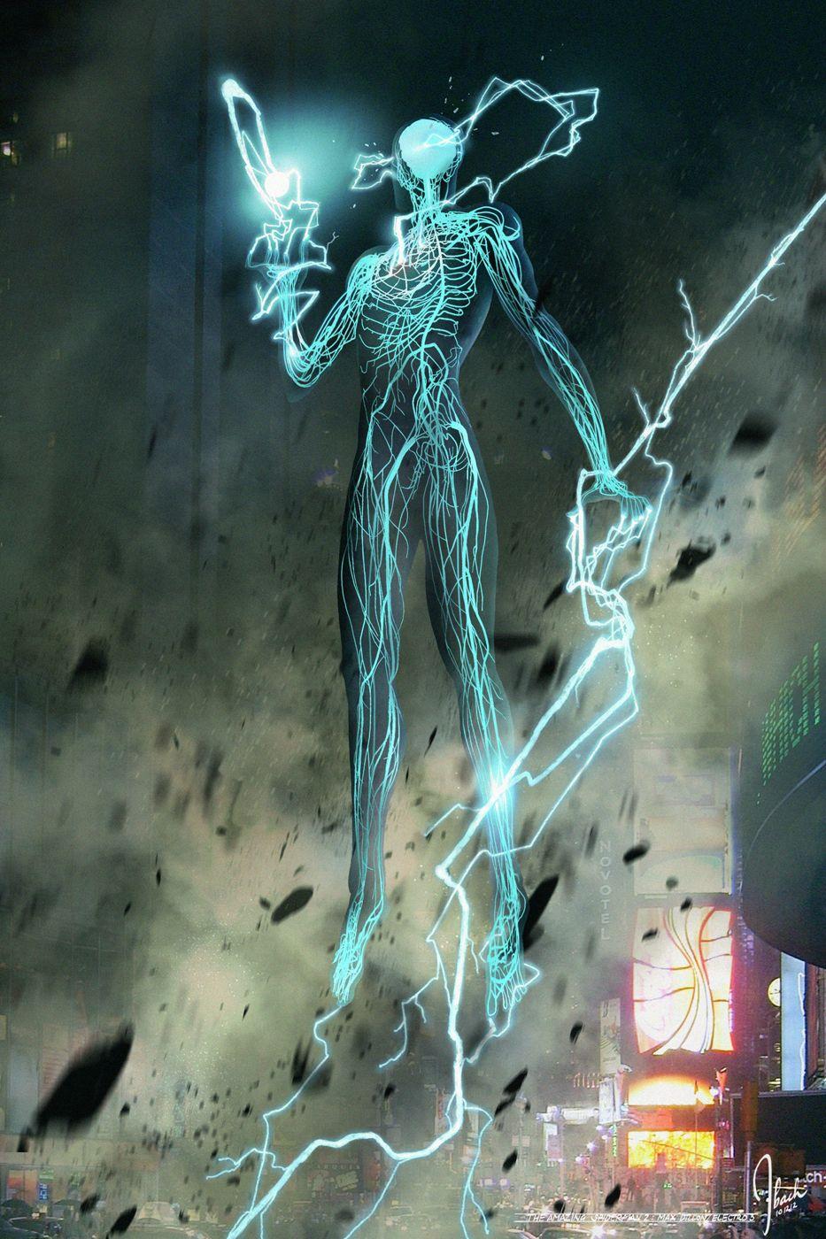 7vDv8Gm Amazing Spider Man 2 Electro Concept Art