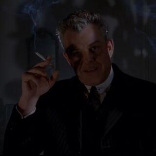 The Axeman smoking