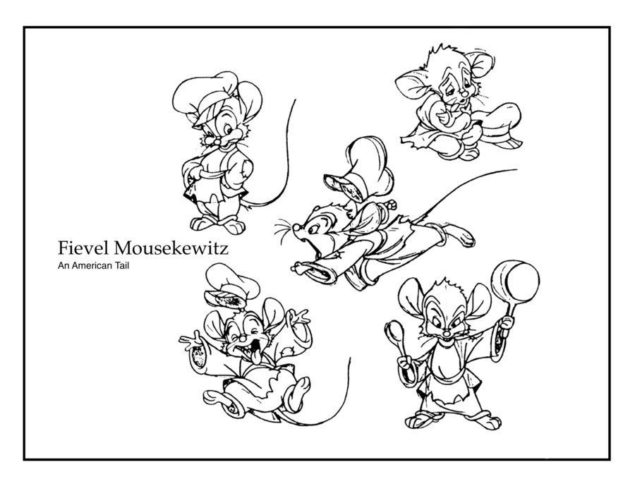 free fibel goes west coloring pages | Image - Fievel 2 by ASCHELL.jpg | An American Tail Wiki ...