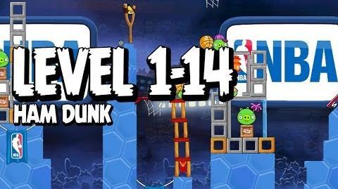 Angry Birds Seasons Ham Dunk 1-14 Walkthrough 3 Star