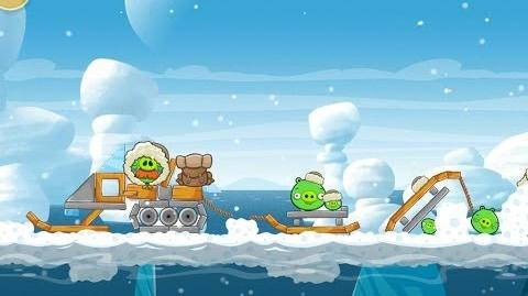 Angry Birds Seasons Arctic Eggspedition 1-4 Walkthrough 3 Star