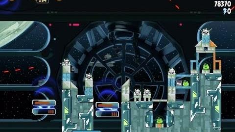 Angry Birds Star Wars 6-22 Death Star 2 Walkthrough 3 Stars