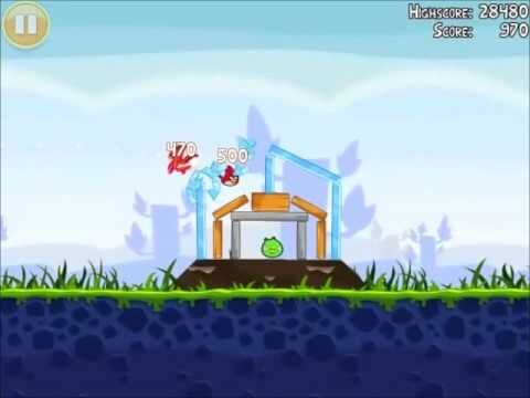 Official Angry Birds Walkthrough Poached Eggs 1-4