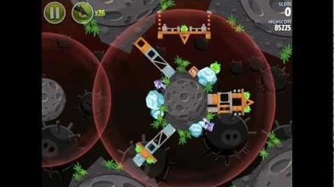 Angry Birds Space Danger Zone Level 20 Walkthrough 3 Star