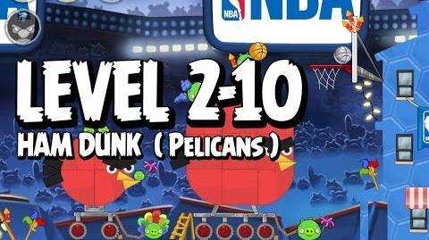 Angry Birds Seasons Ham Dunk 2-10 - Pelicans - Walkthrough 3 Star