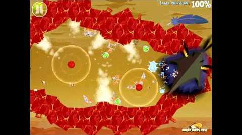 Angry Birds Space Red Planet Bonus Level F-5 Space Eagle Alternative Walkthrough
