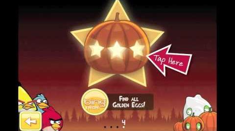 "Angry Birds Seasons Trick or Treat Golden Egg 4 Walkthrough ""Big Pumpkin"""