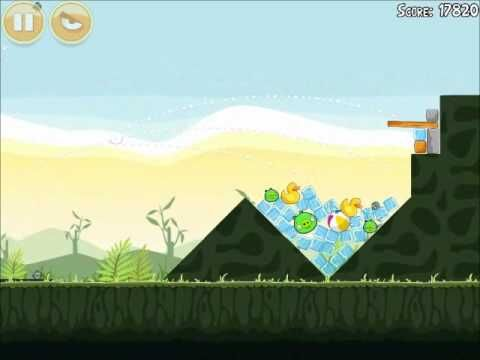 Official Angry Birds Walkthrough Poached Eggs 2-2