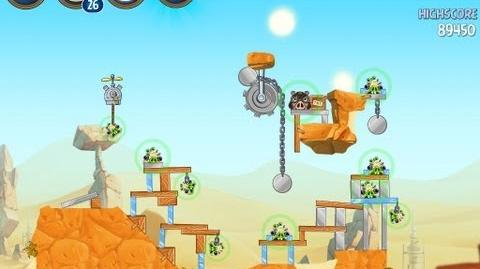 Angry Birds Star Wars 2 Level B2-12 Escape To Tatooine 3 star Walkthrough