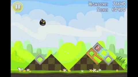 Angry Birds Seasons Easter Eggs Level 1 Walkthrough 3 Star
