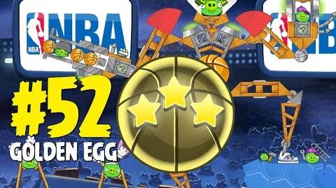 Angry Birds Seasons Ham Dunk Golden Egg 52 Walkthrough