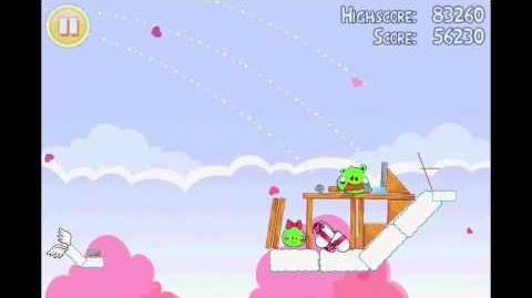 Angry Birds Seasons Hogs & Kisses 3 Star Walkthrough Level 7