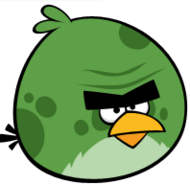Big green bird
