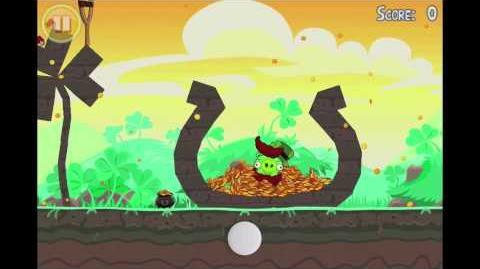 """Angry Birds Seasons Go Green, Get Lucky Golden Egg 8 Walkthrough """"Big Pot o' Gold"""""""