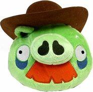 Cowboy Moustache Pig