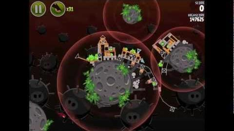 Angry Birds Space Danger Zone Level 27 Walkthrough 3 Star
