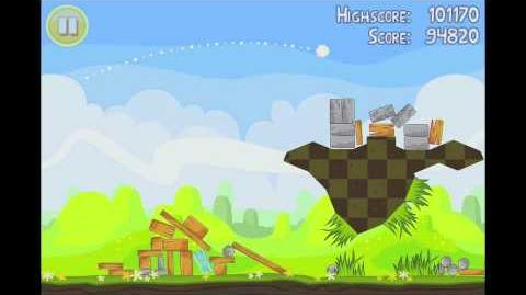 Angry Birds Seasons Easter Eggs Level 14 Walkthrough 3 Star