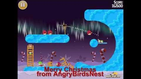 "Angry Birds Seasons Winter Wonderham Golden Egg 40 Walkthrough 2013 ""Big Ornament"""