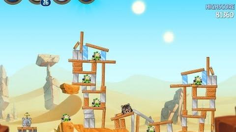 Angry Birds Star Wars 2 Level B2-11 Escape To Tatooine 3 star Walkthrough