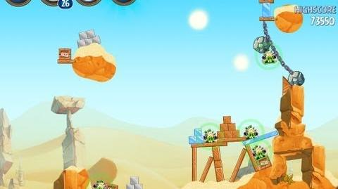 Angry Birds Star Wars 2 Level B2-4 Escape To Tatooine 3 star Walkthrough