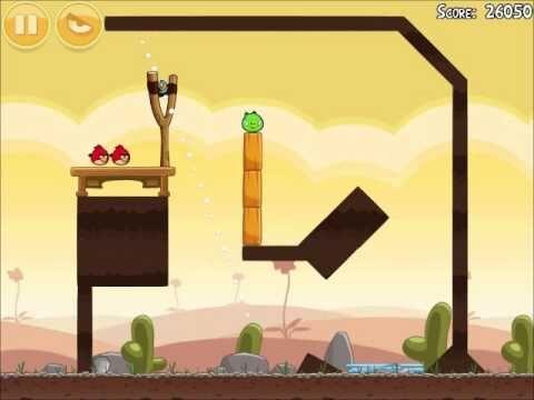 Official Angry Birds Walkthrough Poached Eggs 3-2