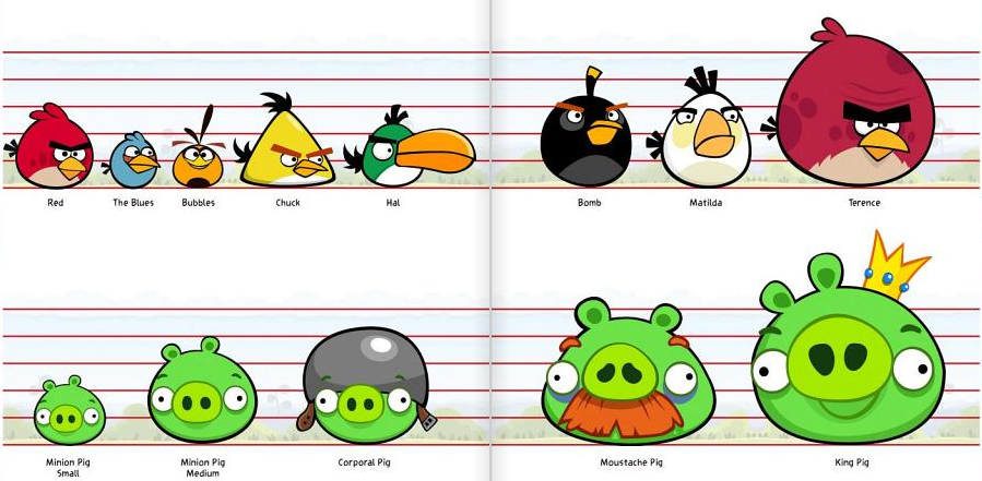 Image Size Chart Birds And Pigs Png