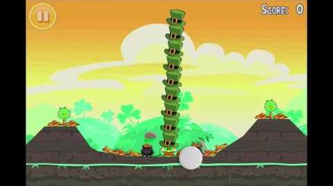 Angry Birds Seasons Go Green, Get Lucky Golden Egg 7 Walkthrough