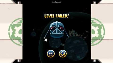 Angry Birds Star Wars Level Failed (Dart Vader)