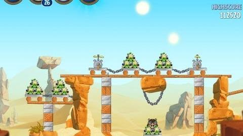 Angry Birds Star Wars 2 Escape To Tatooine B2-10 Treasure Map Walkthrough