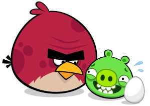 Big bro and pigAngry Birds Go Terence