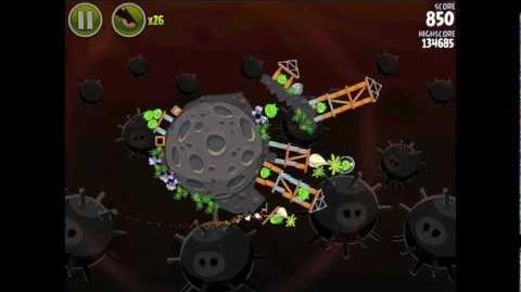 Angry Birds Space Danger Zone Level 18 Walkthrough 3 Star