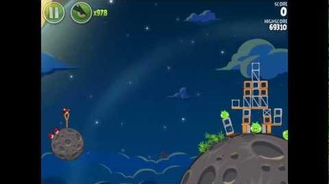 Angry Birds Space Pig Bang 1-4 Space Eagle Walkthrough