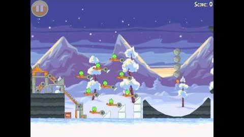 Angry Birds Seasons Wreck the Halls Golden Egg 28 Walkthrough Christmas 2012