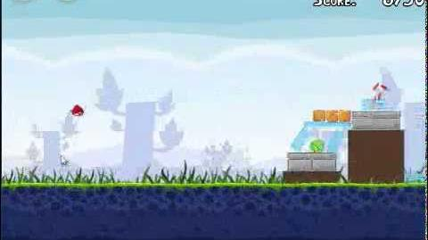 Angry Birds 1-6 Poached eggs 1-6 3 stars walkthrough Theme 1 level 1-6 Gameplay Tutorial