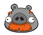 Metal Moustache Pig