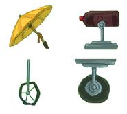 Cinematic version-umbrella black soda medium metal wheel small metal wheel
