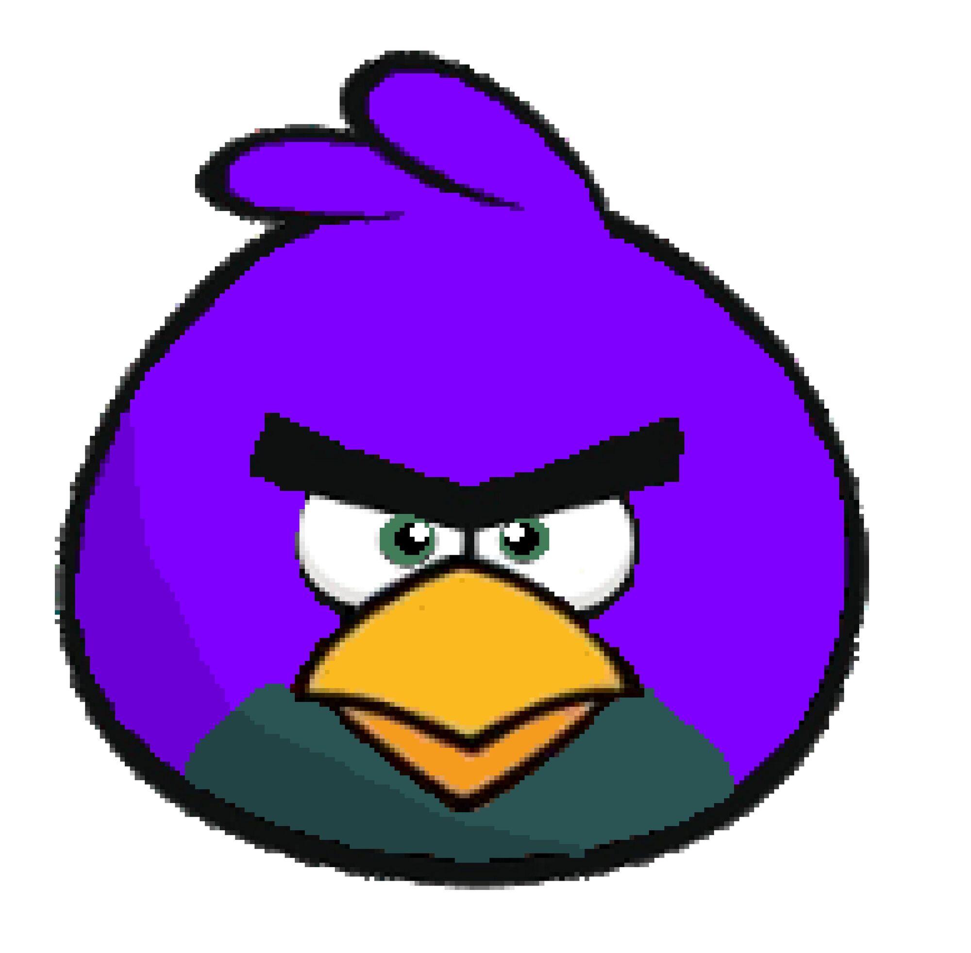 Angry bird purple bird