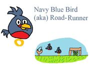 Navy Blue Bird