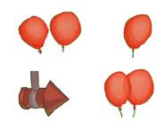 Cinematic version-red firework balloon 2 balloonsX2