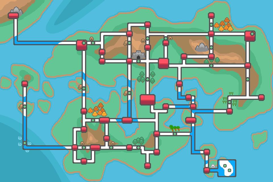 Sekai Region Map