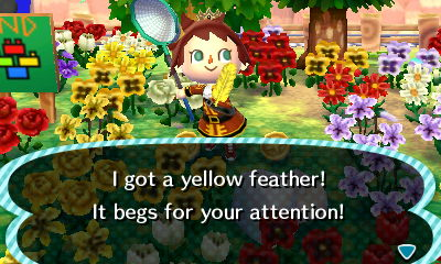 File:Player catches yellow feather.JPG