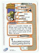 The Back Of Buck's E-Reader Card