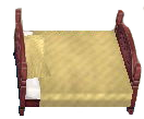 Classic bed dark beige