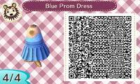 Blue Prom Dress 4/4