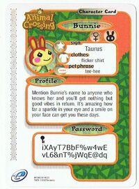 The back of Bunnie's e-reader card