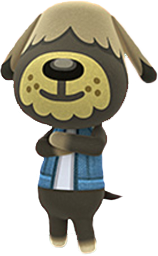 animal crossing dog villagers shep